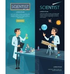 Scientific vertical banners vector