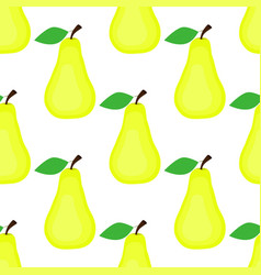 seamless background pear on white background vector image vector image