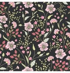 Seamless cute little flower pattern vector