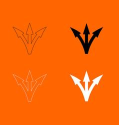 three way direction arrow icon vector image