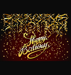 concept party on dark background top view happy vector image vector image