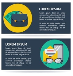 Flat infographic business background vector