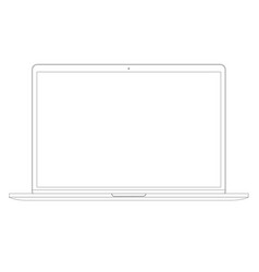 in line style laptop computer vector image vector image