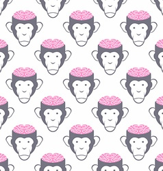 Monkey Brains seamless background pattern of vector image
