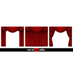 three theater curtain vector image