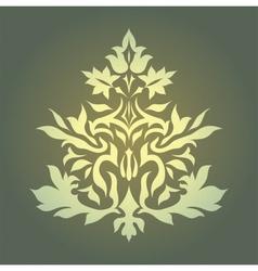 Vintage damask ornament background vector image