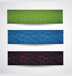 abstract cubic style banner set vector image vector image