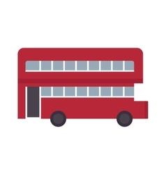 Beautiful double decker red bus flat design vector