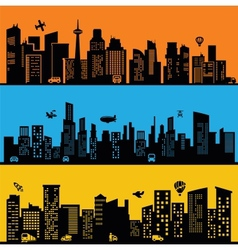 black city vector image vector image
