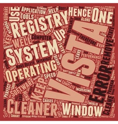 Learn About Windows Vista Registry Cleaner text vector image