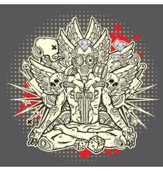 Stylish grunge vector image