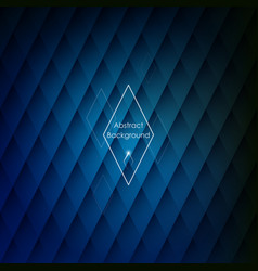 abstract rhombic blue background vector image