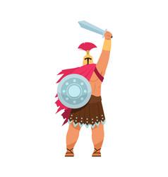 Ares greek god war cartoon male character vector