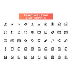 arrows ui icons set 24x24 grid pixel perfect vector image