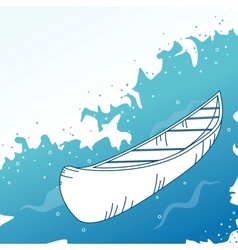 Background with boat vector