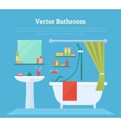 Bathroom interior with furniture vector
