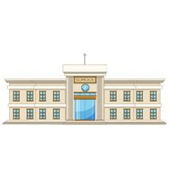 Beautiful university cartoon vector