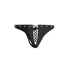 black bdsm underpant fetish stuff for role vector image