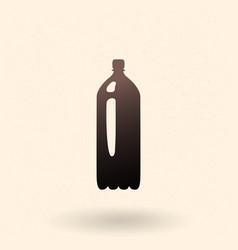 Black plastic bottle icon vector
