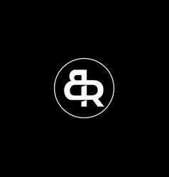Br letters logo symbol vector