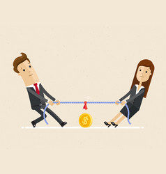 businessman and businesswoman are unplugging the vector image