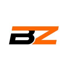 Bz text logo design vector