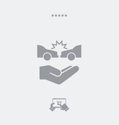 Car crash - web icon vector