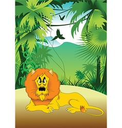 Cartoon lion vector image