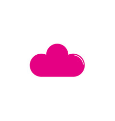 cloud flat icon vector image