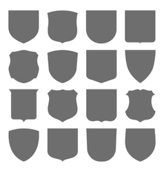Coats of arms set vector image vector image