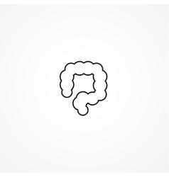 colon simple icon vector image