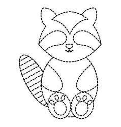 Cute and tender raccoon character vector