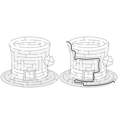Easy hat maze vector