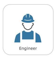 Engineer icon man in hard hat buider symbol vector