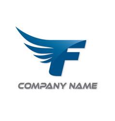 F wings logo vector