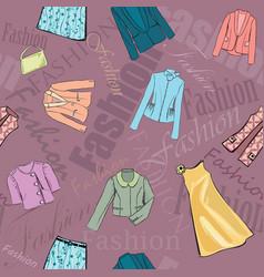 fashion cloth seamless pattern retail women dress vector image