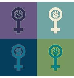 Feminism symbol set vector