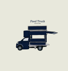 Food truck carnival hand draw sketch style vector
