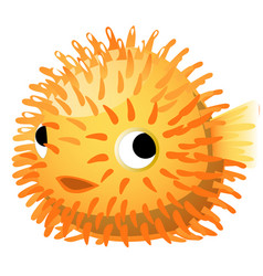 Funny toy in the form of rubber fish with spikes vector