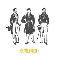gentlemans black and white objects vector image