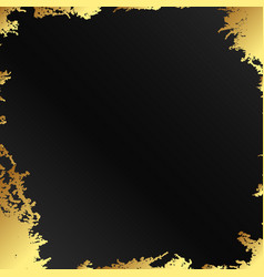 gold on a black background abstract vector image