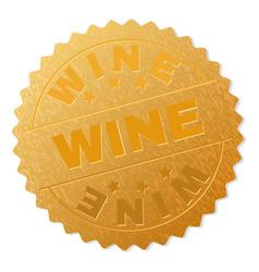 gold wine badge stamp vector image