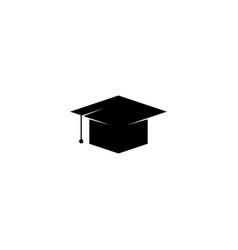 Graduation cap icon graphic design template simple vector