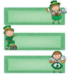 Happy St Patrick horizontal banners vector image