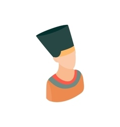 Head of nefertiti icon isometric 3d style vector