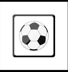 Icon with a soccer ball vector