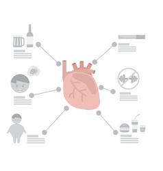 Infographic heart disease factor vector