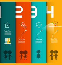 infographic template four steps infographics vector image
