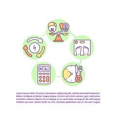 Intermittent fasting concept icon with text vector
