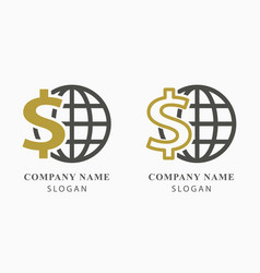 investments money logo design vector image